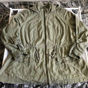 Torrid Anorak Olive Hooded Jacket
